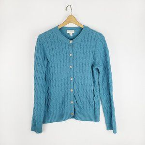 Appleseed's 100% wool cable knit cardigan Small